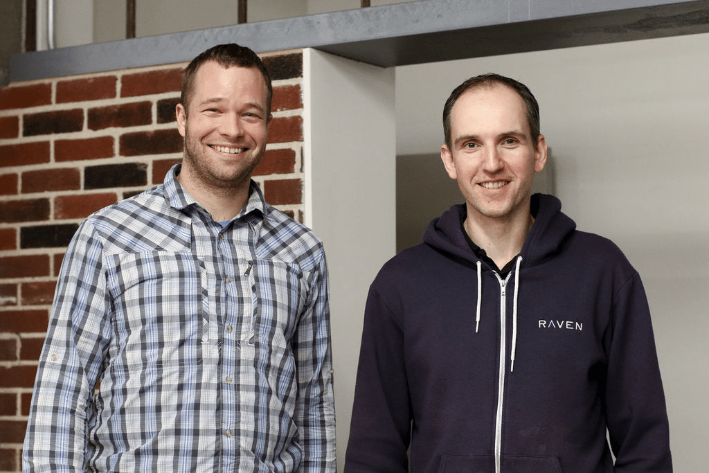 Braden Stenning and Martin Cloake, Founders of Raven Telemetry in the Raven Office