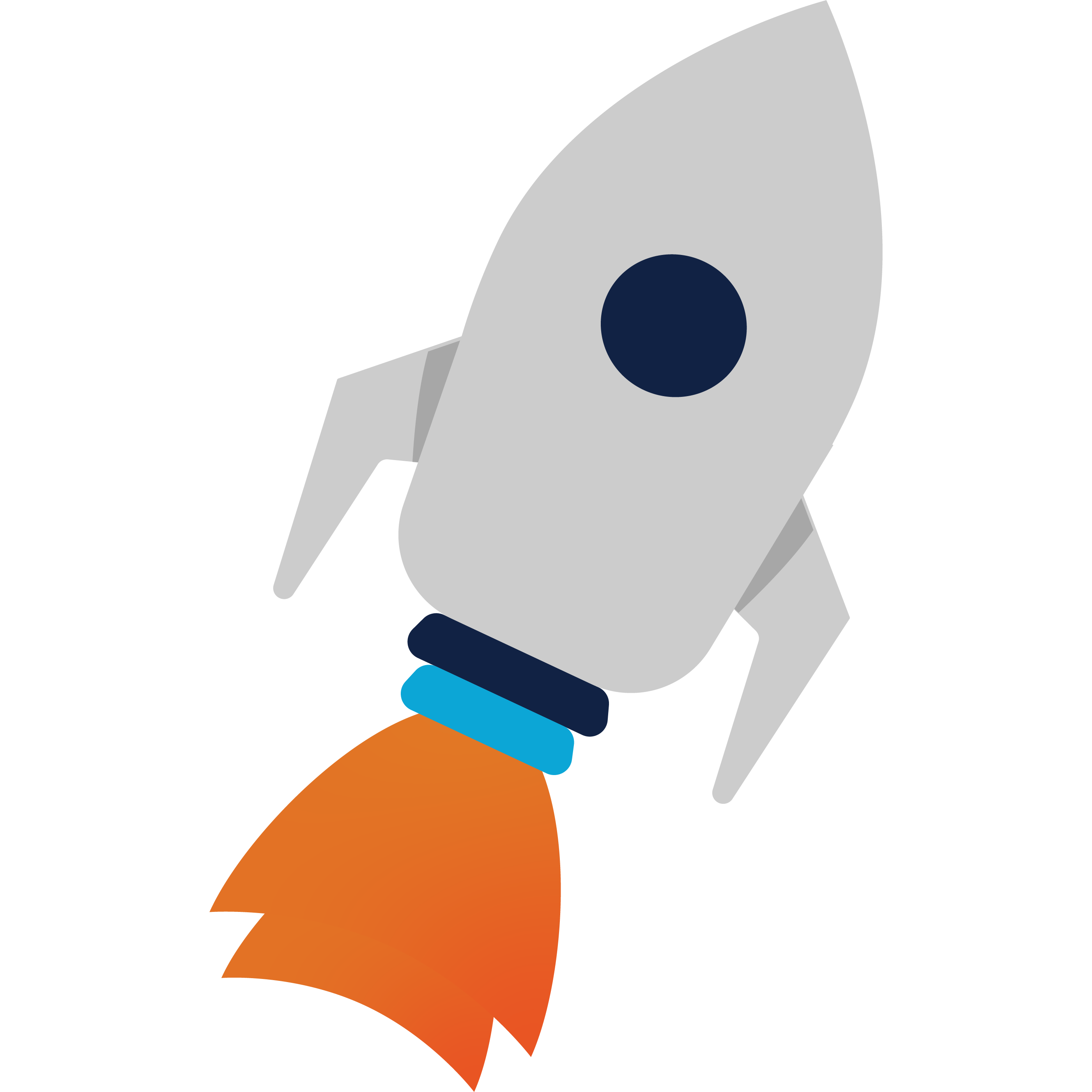 2D Vector Graphic of a Flying Rocket Ship