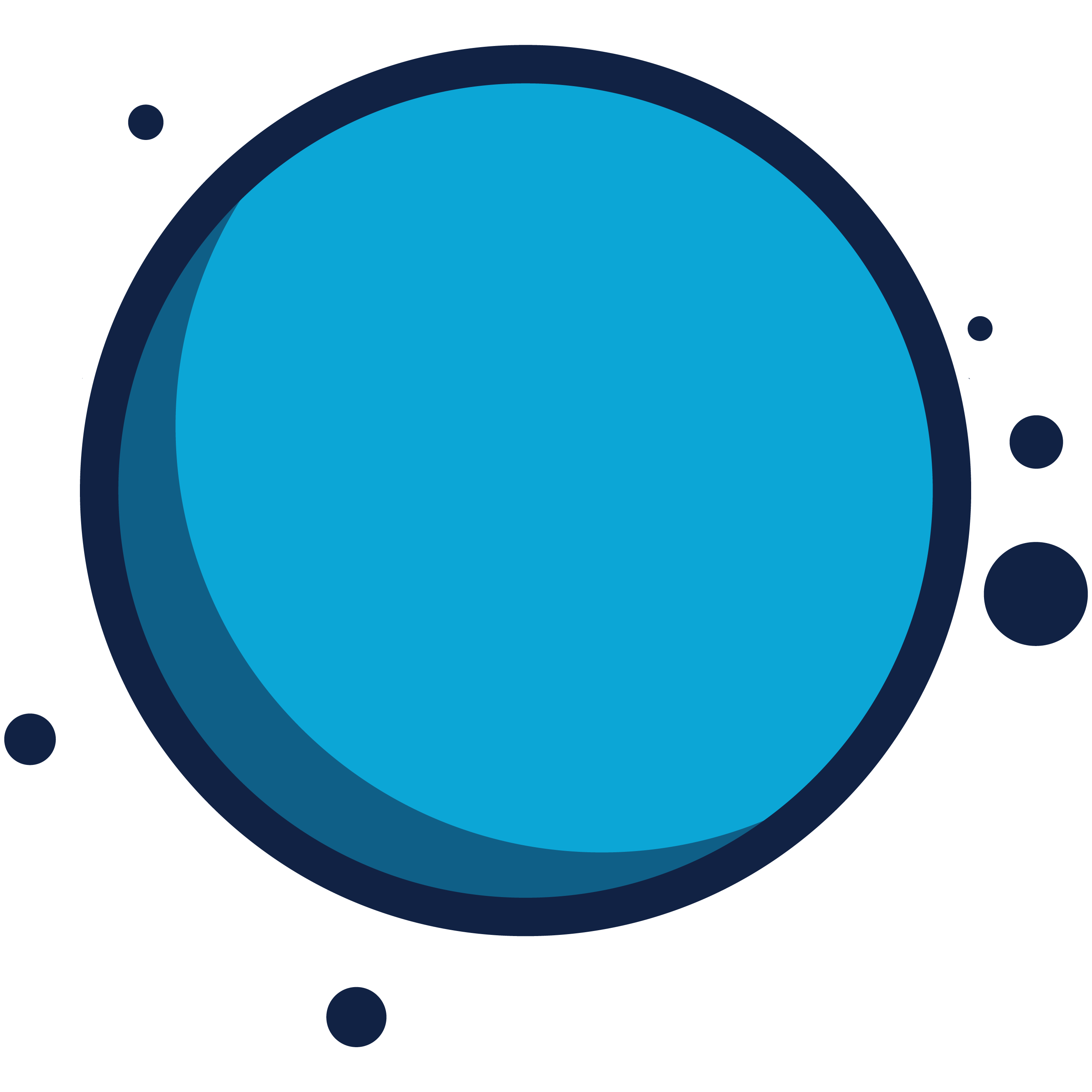 2D Vector Graphic of a World with Orbs