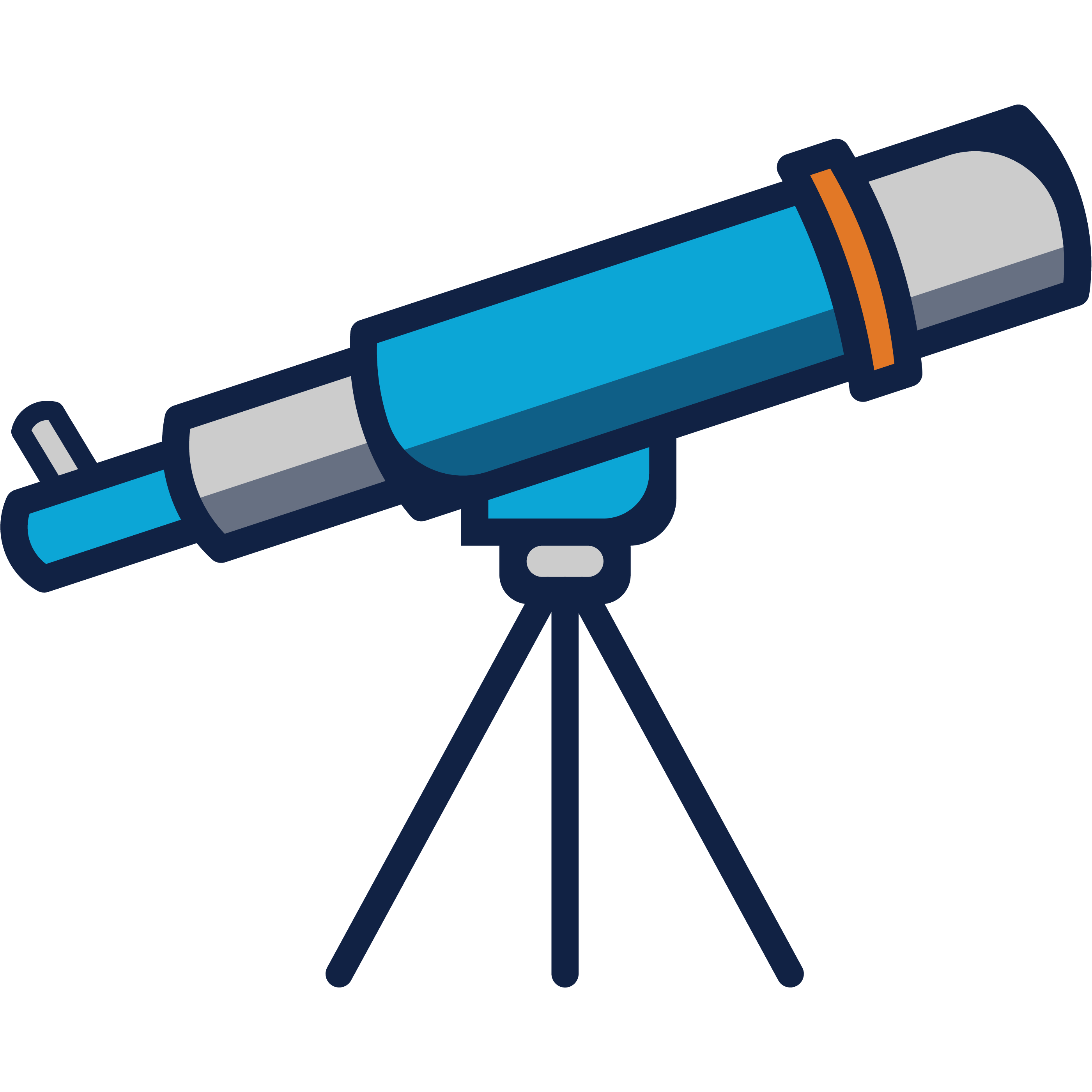 2D Vector Graphic of a Telescope